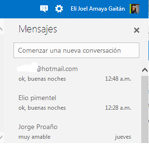 Outlook iniciar sesion y el chat