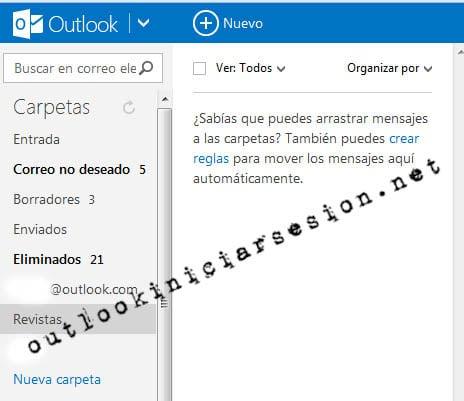Como utilizar óptimamente las carpetas en Outlook